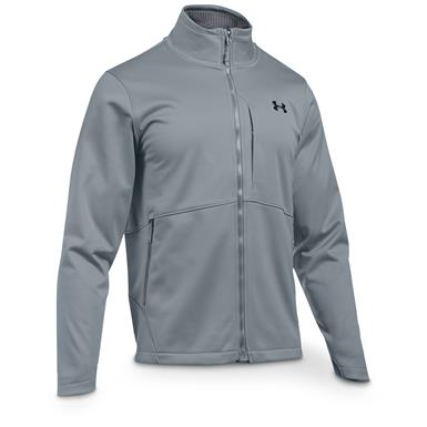 Under Armour Men's Coldgear Infrared Windproof Softshell Jacket, Steel / Black