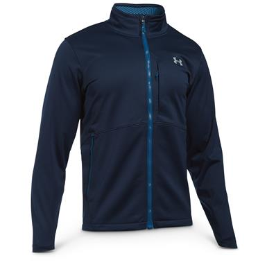 Under Armour Men's Coldgear Infrared Windproof Softshell Jacket, Midnight Navy