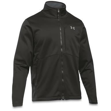 Under Armour Men's Coldgear Infrared Windproof Softshell Jacket, Black / Steel