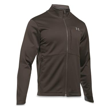 Under Armour Men's Coldgear Infrared Windproof Softshell Jacket, Cannon/Steel