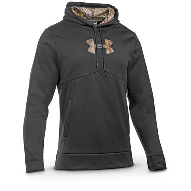 Under Armour Men's Icon Caliber Hoodie, Black / Realtree Xtra