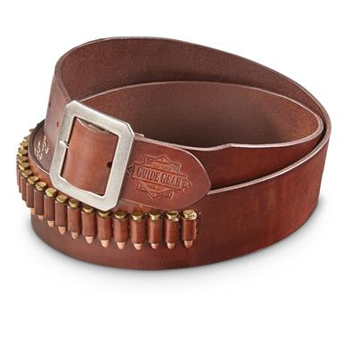 Guide Gear Leather Cartridge Belt, .17/.22 Caliber Rimfire