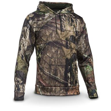 Under Armour Men's Franchise Camo Pullover Hoodie, Mossy Oak / Artillery Green