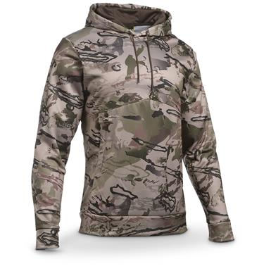 Under Armour Men's Franchise Camo Pullover Hoodie, Maverick Brown / Ridge Reaper
