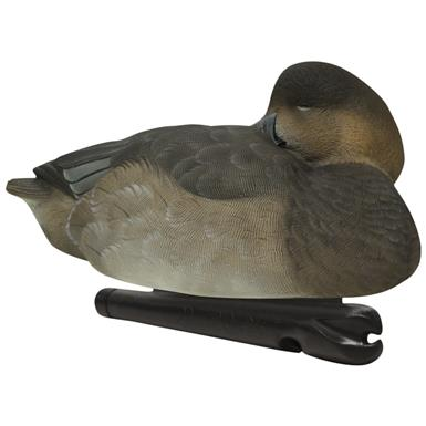Avian-X Topflight Canvasback / Red Head Sleeper Floating Decoys, 6 Pack