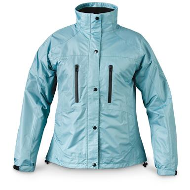 Mossi Women's RX Rain Jacket, Aqua Blue