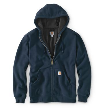 Carhartt Men's Rutland Thermal-Lined Hooded Zip-Front Sweatshirt, New Navy