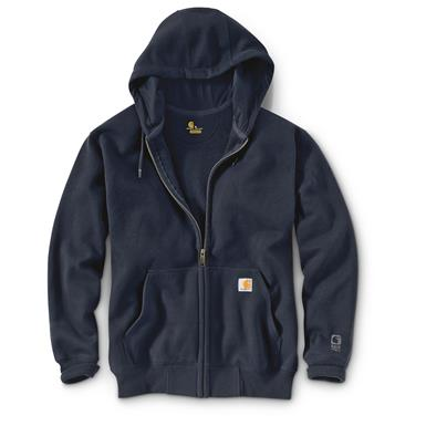 Carhartt Men's Rain Defender Paxton Heavyweight Hooded Zip Sweatshirt, New Navy