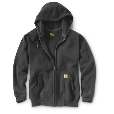Carhartt Men's Rain Defender Paxton Heavyweight Hooded Zip Sweatshirt, Carbon Heather
