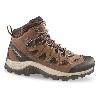 Salomon Men's Authentic LTR GTX Hiking Boots, Waterproof, Black Coffee/choc Brown/vint Kaki
