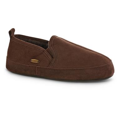 Acorn Men's Romeo Shearling Slippers, Chocolate