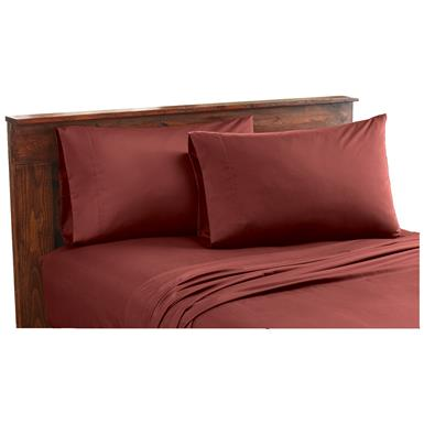 CASTLECREEK Microfiber Sheet Set, Red