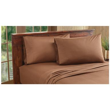 CASTLECREEK Microfiber Sheet Set, Chocolate