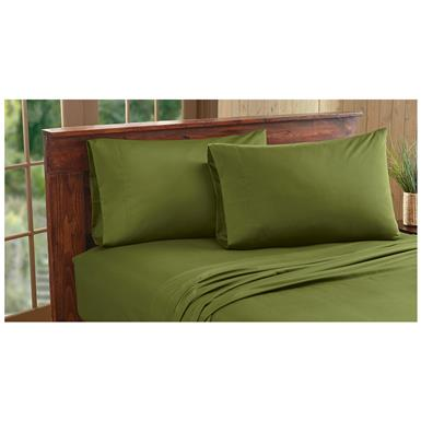 CASTLECREEK Microfiber Sheet Set, Deep Green