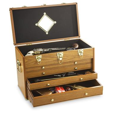 CASTLECREEK 4-Drawer Collector's Chest, Light Oak