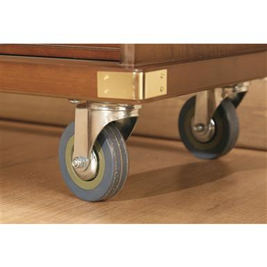 Caster wheels (2 locking) for easy mobility