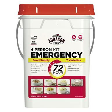 Augason Farms Emergency Food Supply (72 Hour, 4 Person), 176 Servings