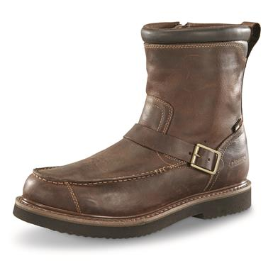 Guide Gear Men's Uplander Hunting Boots, Waterproof, Side-zip, Brown