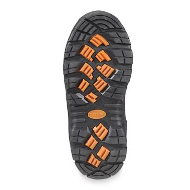 Cupped rubber sure-grip outsoles deliver ground-grabbing bite for reliable traction on ice, snow, mud, and other dicey terrain