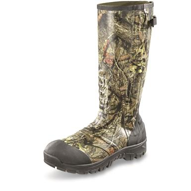 Guide Gear Men's Side Zip Ankle Fit Insulated Rubber Boots, 2,000 Grams, Mossy Oak Break-Up® COUNTRY™