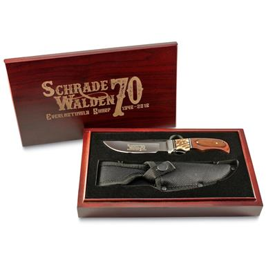 Schrade Walden 70th Anniversary Stag Full-Tang Knife