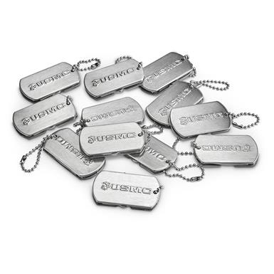 Includes 12 dog tag folders with scissors