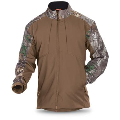 5.11 Tactical Men's Realtree Colorblock Sierra Softshell Jacket, Battle Brown