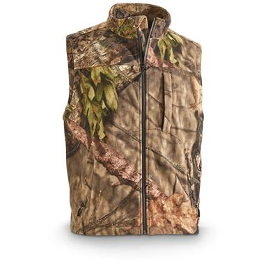 Guide Gear Men's Whist Hunting Vest with W3 Fleece, Mossy Oak Break-Up Country