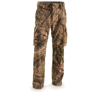 Guide Gear Men's Whist Pants with W3 Fleece, Mossy Oak Break-Up Country, Mossy Oak Break-Up¿¿ COUNTRY¿¿¿