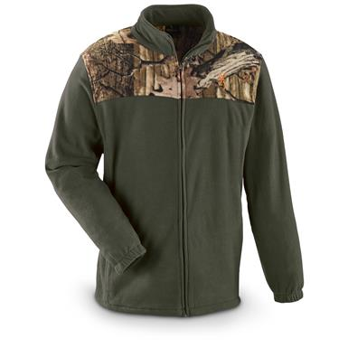 Browning Men's Camo Yoke Fleece Jacket, Green