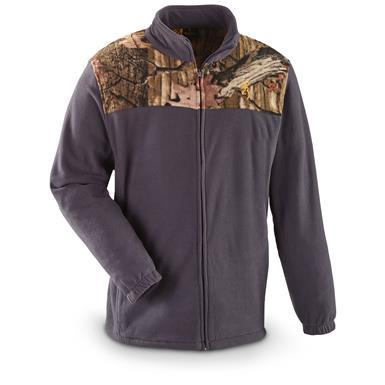 Browning Men's Camo Yoke Fleece Jacket, Gray