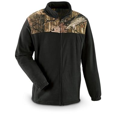 Browning Men's Camo Yoke Fleece Jacket, Black