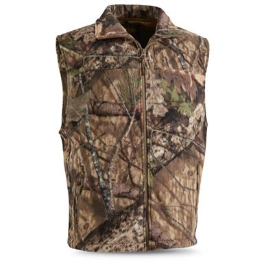 Guide Gear Men's Fleece Vest, Mossy Oak Break-Up Country