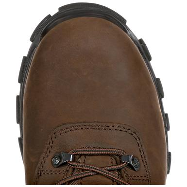 Reinforced at the toe and heel for added durability, Brown