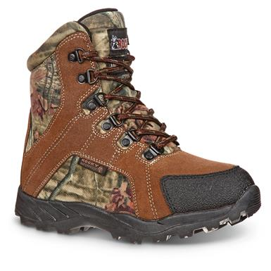 "Rocky Kids' 5"" Waterproof Insulated Hunting Boots, Brown Mossy Oak Break-Up®"