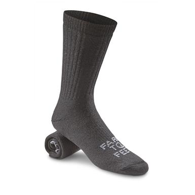 Farm to Feet Columbus Medium-Weight Boot Socks, Black