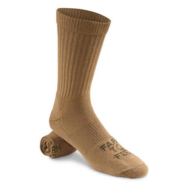 Farm to Feet Coronado Lightweight Boot Socks, Coyote Brown, Black