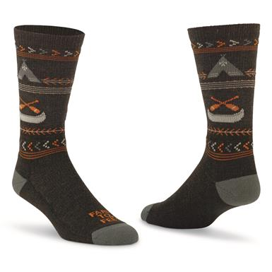 Farm to Feet Women's Franklin Lightweight Crew Socks, Charcoal