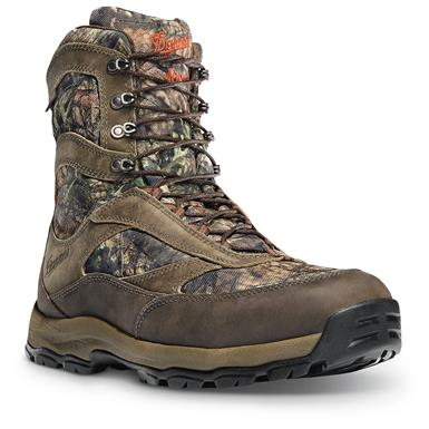 Danner Men's High Ground Waterproof Hunting Boots, 400 Gram Thinsulate, Mossy Oak Break-Up Country
