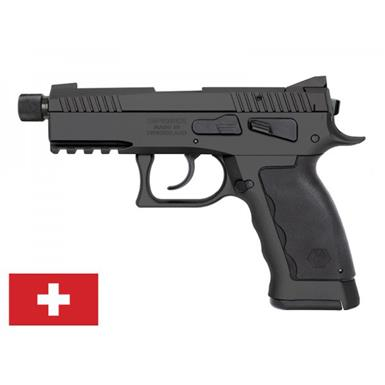 "Kriss USA Sphinx SDP Compact Black Duty, Semi-Automatic, 9mm, 3.7"" Threaded Barrel, 17+1 Rounds"