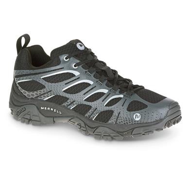 Merrell Men's Moab Edge Hiking Shoes, Black / Gray