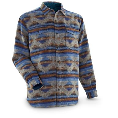Guide Gear Men's Jacquard Shirt, Blue