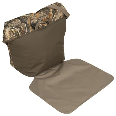 Pull-out mat for changing out of your wet waders