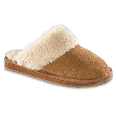 Guide Gear Women's Quilted Scuff Slippers, Cinnamon