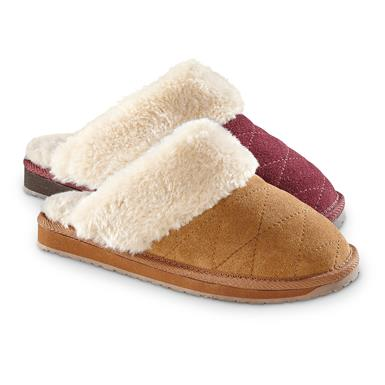 Guide Gear Women's Quilted Scuff Slippers