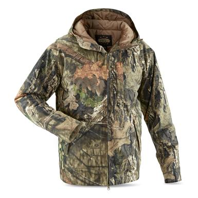 Guide Gear Men's Insulated Silent Adrenaline Hunting Jacket, Mossy Oak Break-Up Country