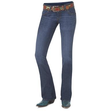 Wrangler Women's Premium Patch Sadie Jeans, Blue, BD Wash