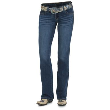 Wrangler Women's Premium Patch Sadie Jeans, True Blue