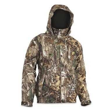 ScentBlocker Men's Outfitter Fleece Hunting Jacket, Waterproof, Realtree Edge