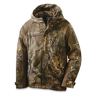 ScentBlocker Drencher Men's Hooded Hunting Rain Jacket, Realtree Edge